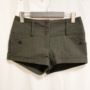 ✨3/$30 Costa Blanca Dark Gray Striped Shorts